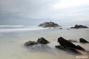 Sri Lankan seascape (slow speed + grey filter) by Raoul Caprez