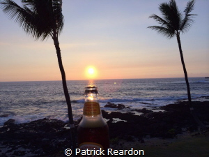 How to capture a beautiful sunset? Why, in a bottle of b... by Patrick Reardon