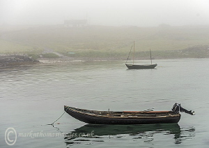 Misty morning at Aughrus Pier. by Mark Thomas
