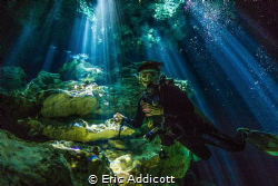 Entrance at Cenote Taj Maha by Eric Addicott