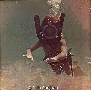 Historical photo 1964: Myself diving when I was 7 years o... by Julio Sanjuan