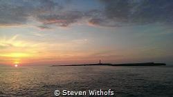 Sunrise at la isla del aire. Menorca. by Steven Withofs