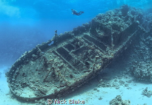 Tug Boat wreck, Red Sea, Egypt by Nick Blake