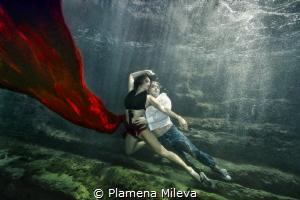 Underwater love dance by Plamena Mileva