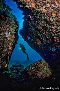 Lilia in the cave, capraia island by Marco Gargiulo