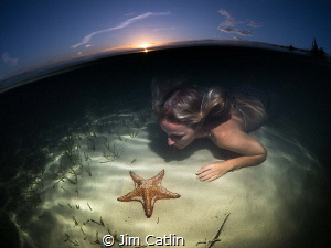 Sunset at starfish point, shot with 8mm fisheye and 4.33'... by Jim Catlin