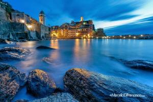Vernazza (5 terre ) - italy Blue hour by Marcello Di Francesco