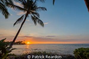 Hawaiian sunset by Patrick Reardon