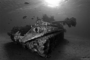 The Tank - Aqaba, Jordan  The Tank is an American M42 Du... by Iyad Suleyman