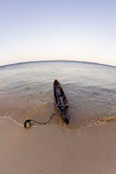 Dugout canoe in Wakatobi by Karl Dietz