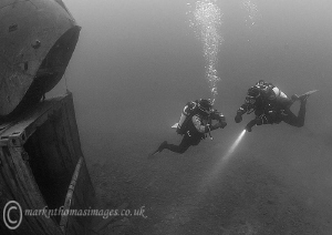 Divers & Wessex helicopter. Capernwray. by Mark Thomas
