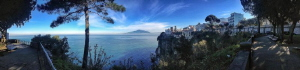Snow on the Vulcan Vesuvio, panorama taken with IPHONE 4S by Marco Gargiulo