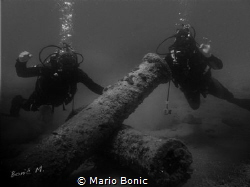 Antique cannons. by Mario Bonic