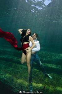 Underwater dance by Plamena Mileva