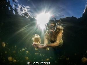 Holding Jelly Fish! by Lars Peters