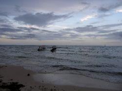 sunset on playa del carmen, mexico by Gordana Zdjelar