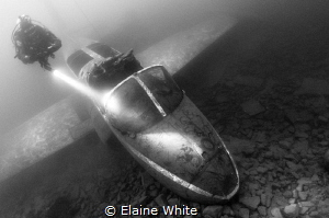 The Provost Jet Plane in Eccleston Delph, Converted to bl... by Elaine White
