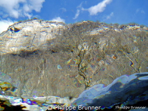 The world of outside the water. Verzasca river in the Sw... by Philippe Brunner
