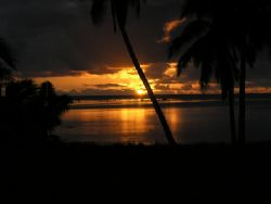Aitutaki sunset, Cook islands.