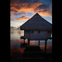 Moorea, French Polynesia. Sunrise, last day before Tahiti... by Christopher Ward