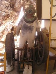 Ziebe's diving suit in the Greek island of Simi by Gordana Zdjelar