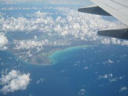View from the air - getting closer to Curacao by Kelly N. Saunders