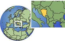 Bosnia and Herzegowina map
