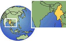 Myanmar (Burma) map