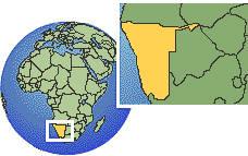 Nambia map