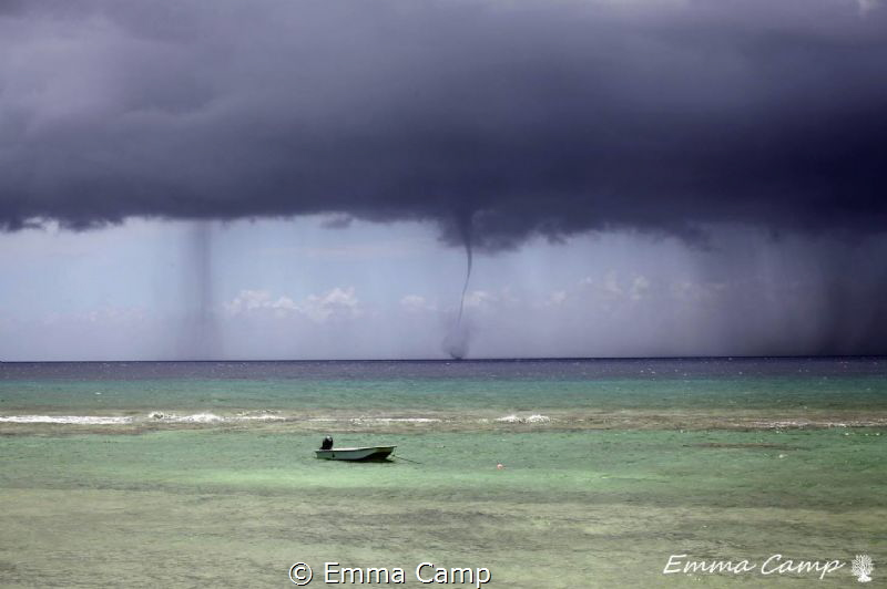 A water spout during a storm.