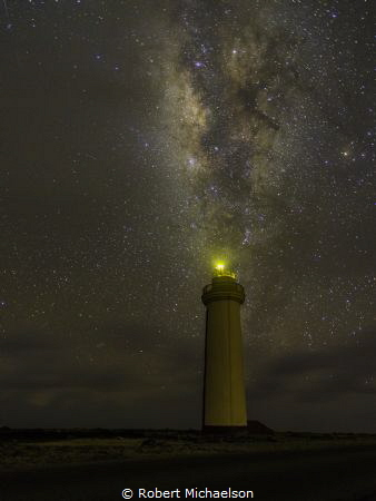 The Milky Way at the lighthouse on Bonaire