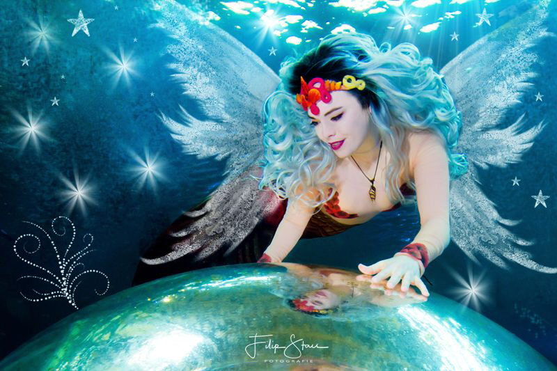 An angel is watching over us. Model: mermaid Nyxe, TODI, Belgium.