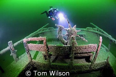 Un-named wreck in Lake Ontario, Canada, near Picton. Depth 170'.