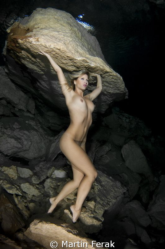 Strong beauty in Mexican cavern