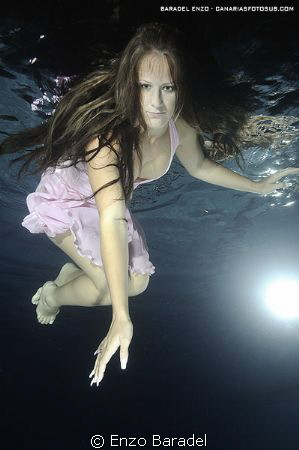 Underwater fashion girl tenerife canary islands by enzo baradel