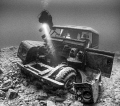 Landrover wreck, National Dive Centre, Chepstow