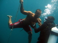 Zaki is freediving