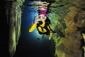 Cave diving challenge by a female diver in Guangxi, China