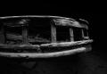Stern railing of the tug wreck  Alice G   Tobermory Ontario
