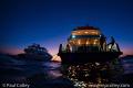 Dive boats at dusk