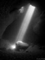 The sunlight through the siphon of El Moraig