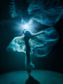 Moonlight Ballet  (night underwater photo shooting in swimming pool)