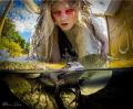 Dark Water Mermaid Event: Dark Water - Lady By The Lake Photoshoot 2015 Organizer: Amie Hana Model: Greta Rupeika Makeup: Steven Papageorge Hair Acedemy- Ariel Moon Hair: Steven Papageorge Hair Academy- Jacqui Sinacore Nolan