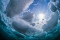Drift ice diving in Shiretoko,Hokkaido,Japan.