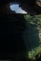 Caves off the coast of Okinawa, Japan.