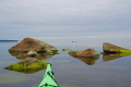 A very calm and magic afternoon in my kayak.