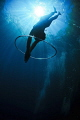 Freediving through the bubble rings . Taken in Coron using a Nikon d300. Freediver: Mj Paula .