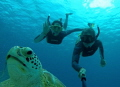 Selfie with Green Turtle