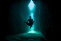 Underwater meditation on the way to secret bat cave