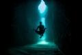 Underwater meditation on the way to secret bat cave